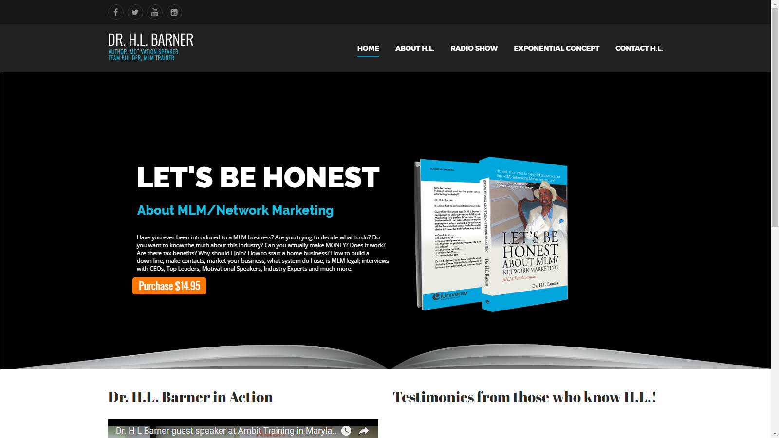 Dr. H.L. Barner Website