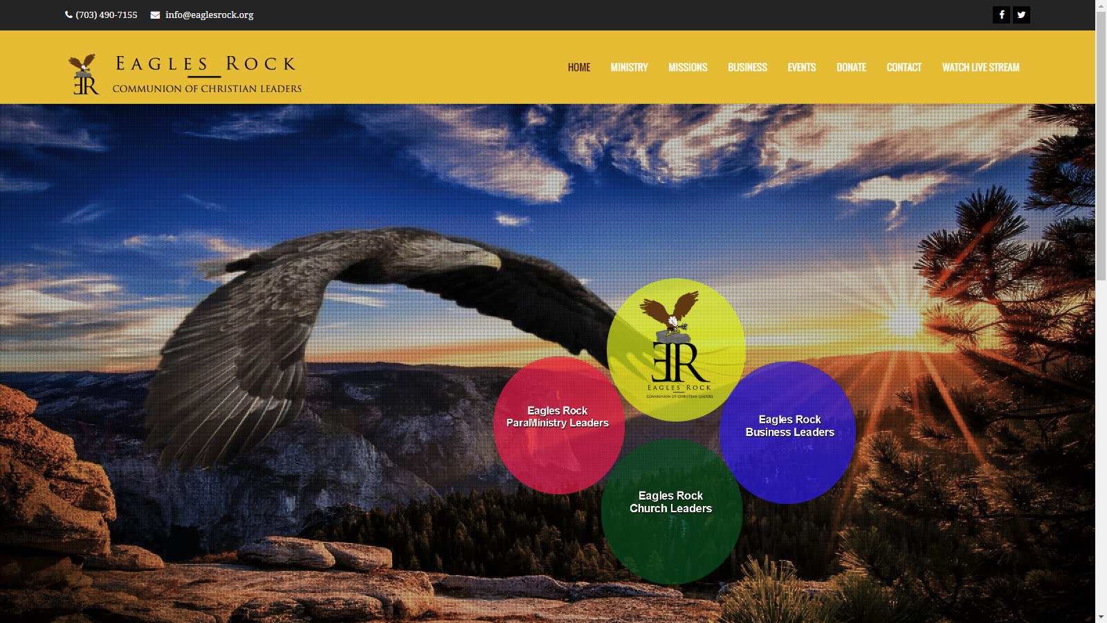 Eagles Rock Website