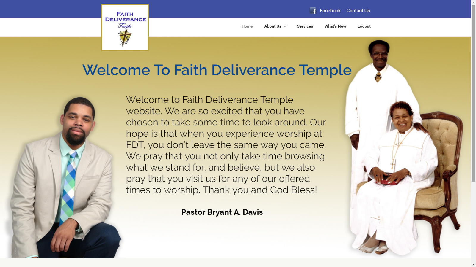Faith Deliverance Temple Website