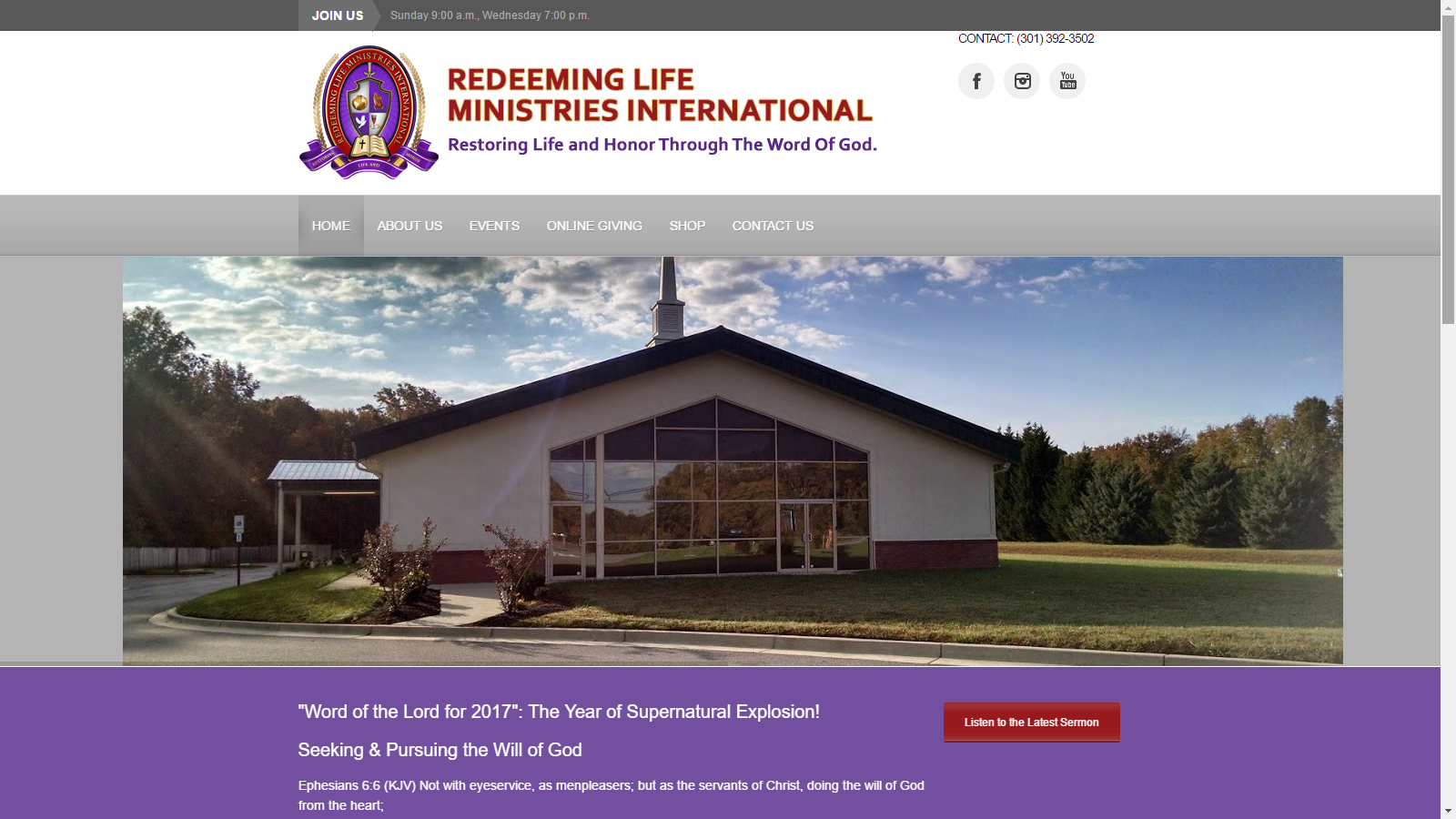 Redeeming Life Ministries International Website
