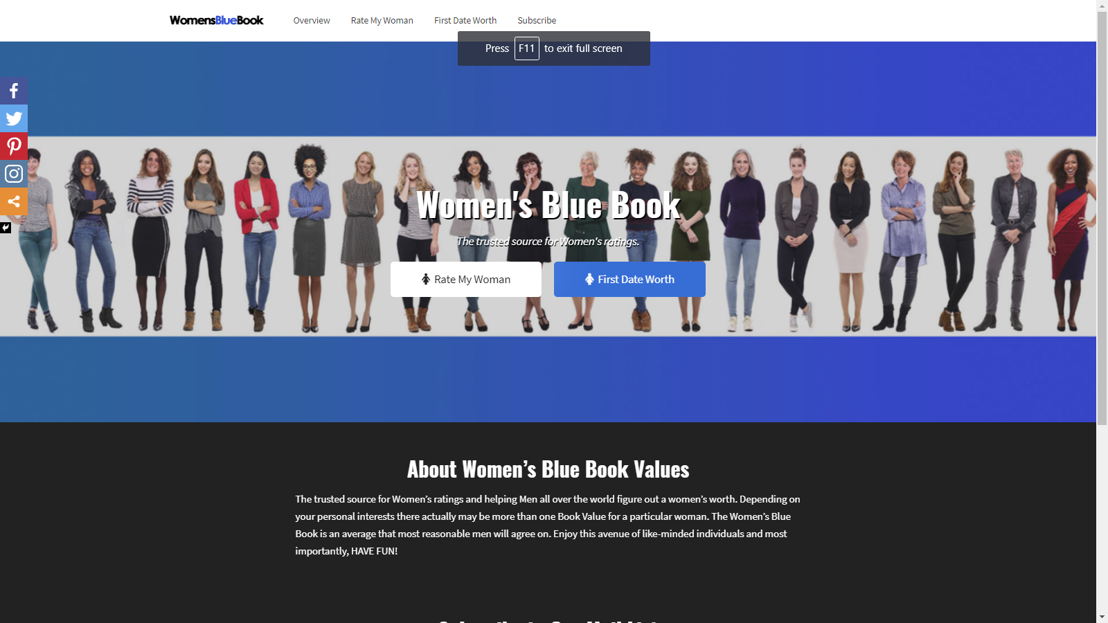 Women's Blue Book Website