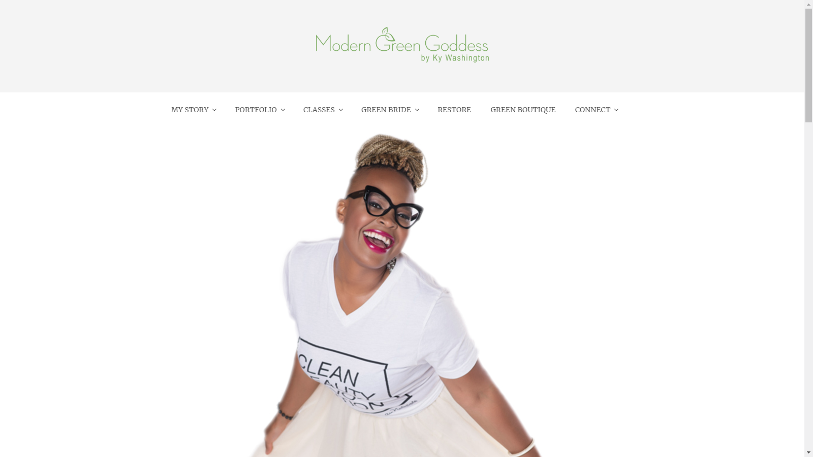 Modern Green Goddess Website
